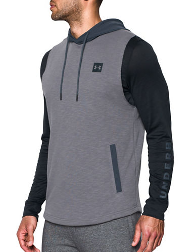 Under Armour Sportstyle Sleeveless Hoodie-GREY-X-Large