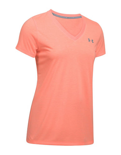 Under Armour Threadborne Train Twist V-Neck Tee-LONDON ORANGE-X-Small 89207327_LONDON ORANGE_X-Small