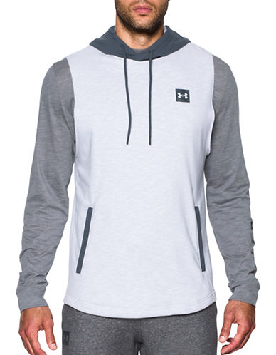 Under Armour Sportstyle Sleeveless Hoodie-WHITE-X-Large