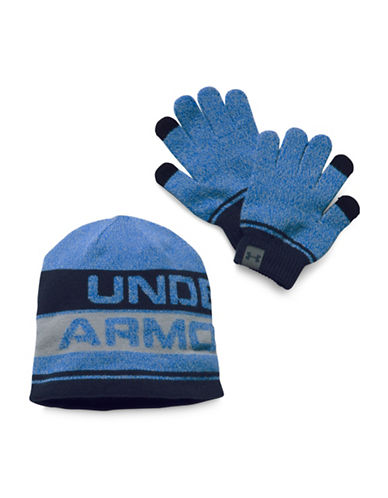 Under Armour UA Beanie and Glove Combo Set 2.0-BLUE-One Size