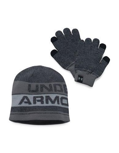 Under Armour UA Beanie and Glove Combo Set 2.0-BLACK-One Size