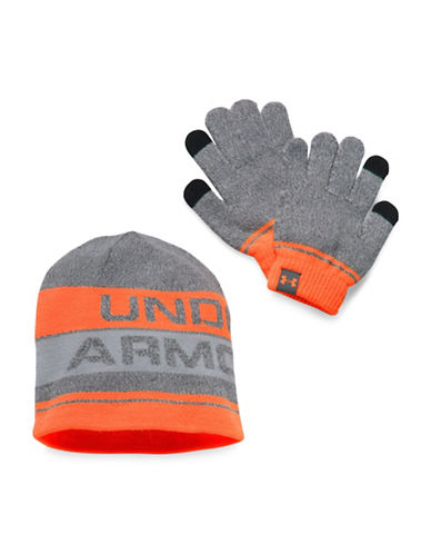 Under Armour UA Beanie and Glove Combo Set 2.0-SILVER-One Size