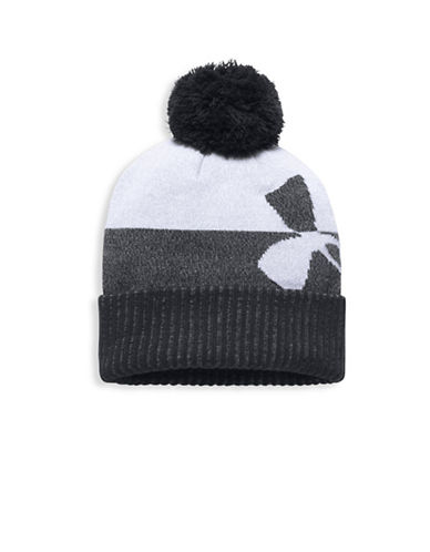 Under Armour UA Pom Beanie-BLACK-One Size