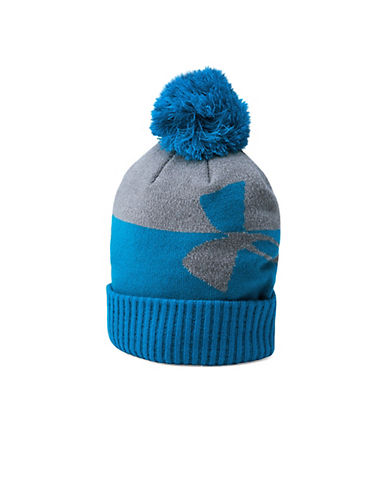 Under Armour Pom Beanie-BLUE-One Size