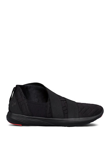 Under Armour Womens Street Precision Slip-On Sneakers-BLACK-11