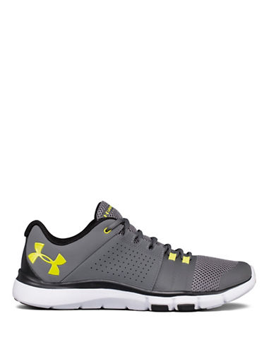 Under Armour Strive 7 Mesh Running Shoes-GREY-8.5