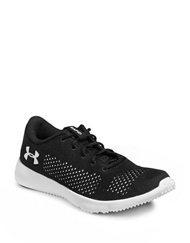 Under Armour Womens Rapid Mesh Sneakers-BLACK-5.5