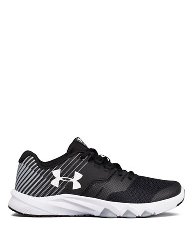 Under Armour Lace-Up Running Sneakers-BLACK-3.5