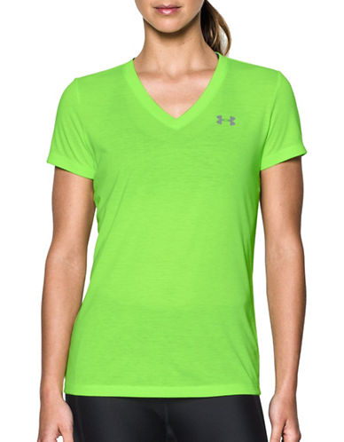 Under Armour Threadborne Train Twist T-Shirt-GREEN-Medium