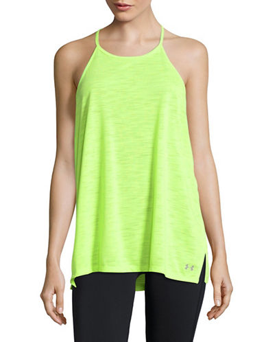 Under Armour Burnout High-Neck Tank-GREEN-X-Small
