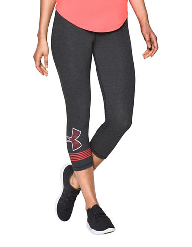 Under Armour Favorite Graphic Capri Leggings-GREY-Large