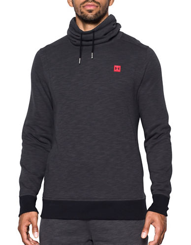 Under Armour Cowl Neck Fleece Sweatshirt-GREY-Large