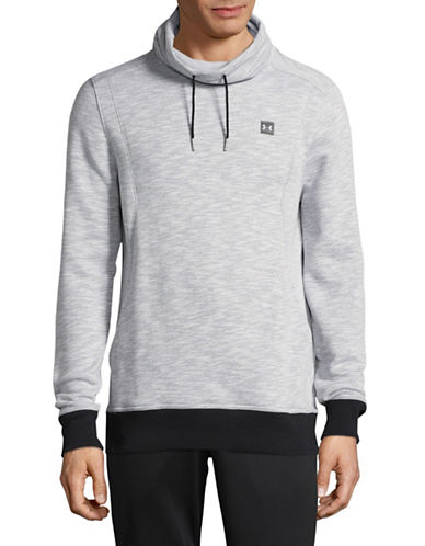 Under Armour Baseline Funnel Neck Pullover-GREY-Medium