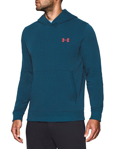 Under Armour Threadborne Fleece Hoodie-BLUE-X-Small