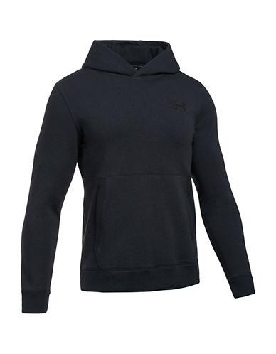 Under Armour Threadborne Fleece Hoodie-BLACK-X-Large