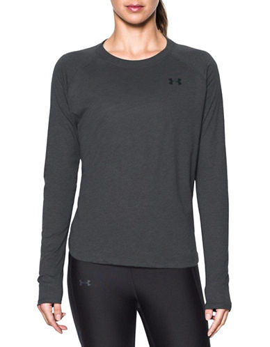 Under Armour Charged Cotton Top-GREY-Small