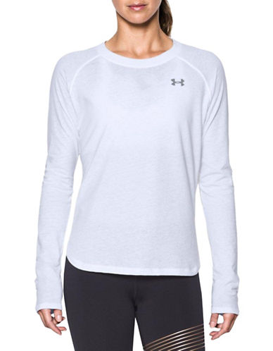 Under Armour Charged Cotton Top-WHITE-Medium