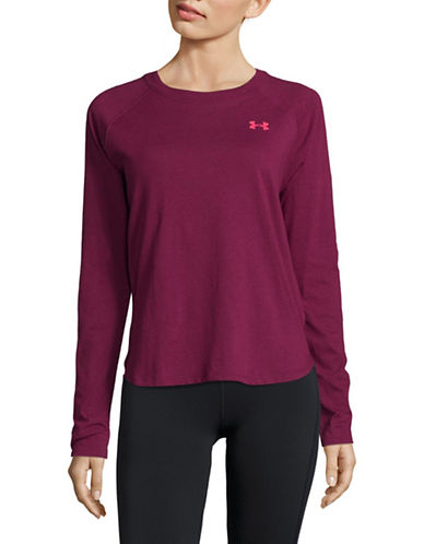 Under Armour Logo Long Sleeve Tee-PURPLE-X-Large