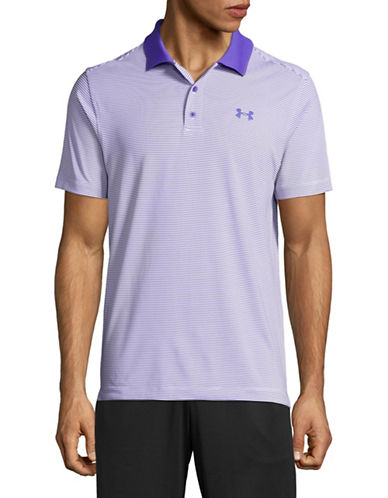 Under Armour Striped Polo-BLUE-Large 89232804_BLUE_Large