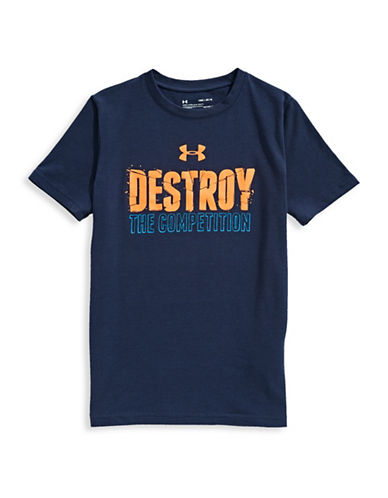 Under Armour Destroy The Competition Short-Sleeve Tee-BLUE-7-8