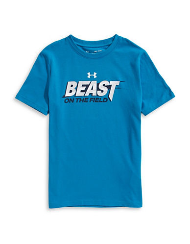 Under Armour Beast Graphic Tee-BLUE-14-16