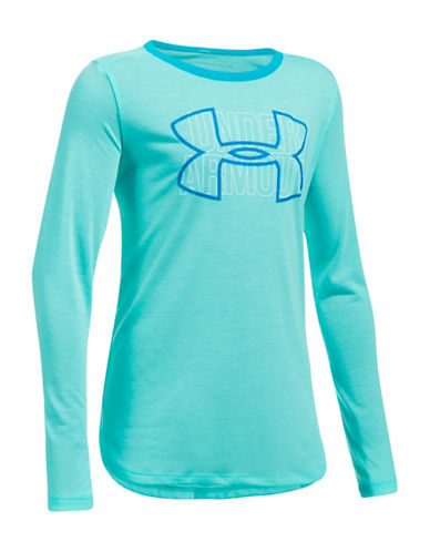 Under Armour Logo Print Long-Sleeve Tee-BLUE-Small 89583308_BLUE_Small