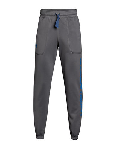 Under Armour Embossed Logo Jogger Pants-GREY-Small