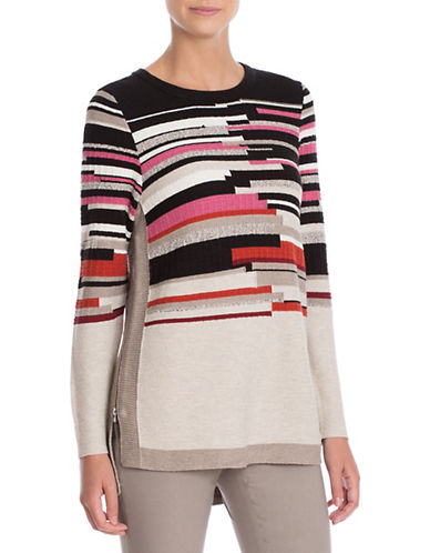 Nic+Zoe Tonal Tides Top-WHITE MULTI-Medium