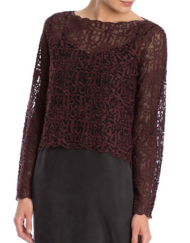 Nic+Zoe Brushed Lace Top-RED-Small 88699088_RED_Small