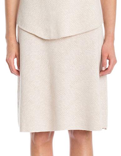 Nic+Zoe PETITE Textured Flirt Skirt-CREAM-Petite Medium
