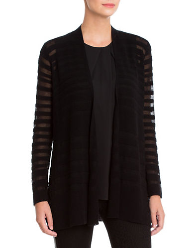 Nic+Zoe Deep Freeze Open Front Cardigan-BLACK-X-Small 88809089_BLACK_X-Small