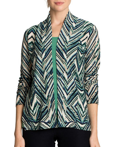 Nic+Zoe Illusion Long Sleeve Cardigan-ASSORTED-Medium