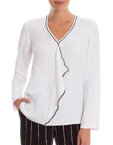 Nic+Zoe Cascading Ruffled Top-WHITE-Medium 88870123_WHITE_Medium