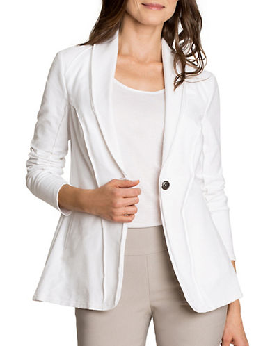 Nic+Zoe Denim Knit Jacket-WHITE-X-Large 89115876_WHITE_X-Large