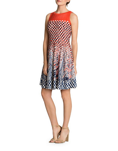 Nic+Zoe Fiore A-Line Dress-MULTI-X-Large