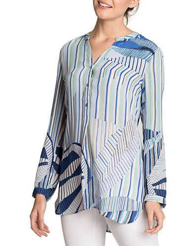 Nic+Zoe Poolside Palm Lines Top-MULTI-Small