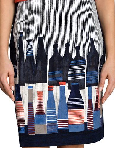 Nic+Zoe Spring Bottles Pencil Skirt-MULTI-8