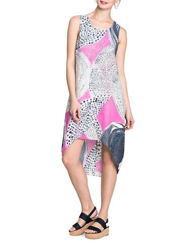 Nic+Zoe Sungrove Hi-Lo Dress-PURPLE MULTI-X-Small