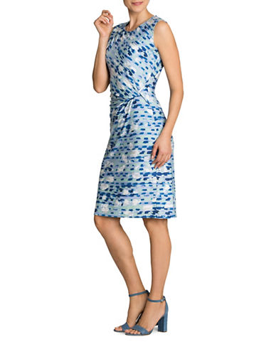 Nic+Zoe Plus Water Lane Twisted Dress-MULTI-COLOUR-2X