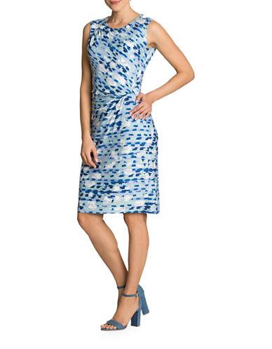 Nic+Zoe PETITE Water Lane Twist Dress-MULTI-Petite X-Small