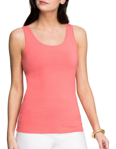 Nic+Zoe Perfect Tank Top-CORAL-Medium