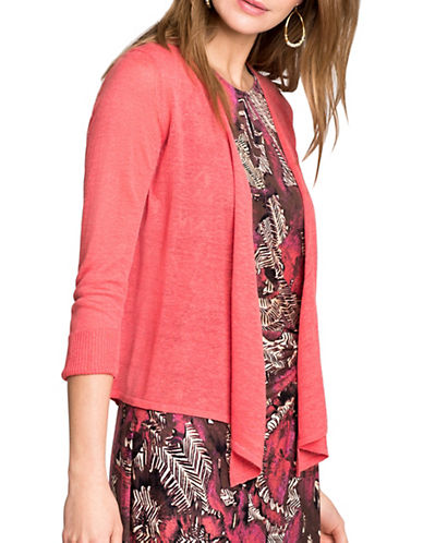 Nic+Zoe 4-Way Cardigan-CORAL-Medium