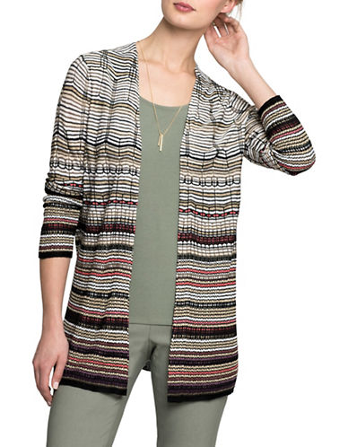 Nic+Zoe Colourscale Cardigan-MULTI-X-Small