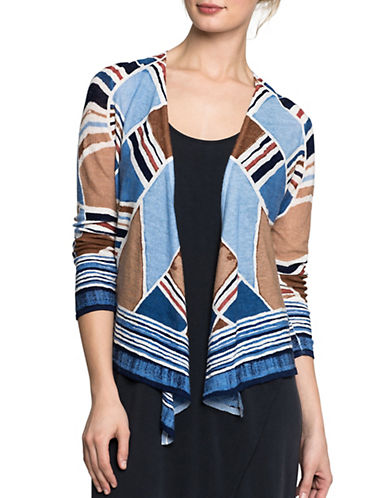 Nic+Zoe Seaglass Lightweight Cardigan-MULTI-X-Small