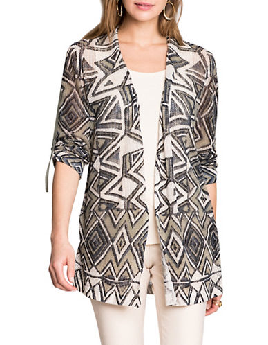 Nic+Zoe Mountain Dreams Cardigan-MULTI-X-Large