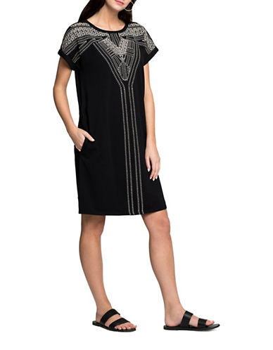 Nic+Zoe Havana Nights Tunic-BLACK-X-Small