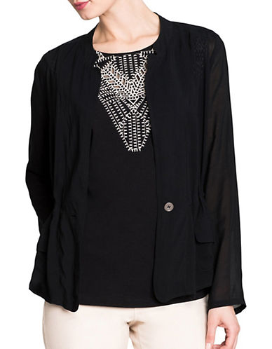 Nic+Zoe Femme Utility Jacket-BLACK-X-Small