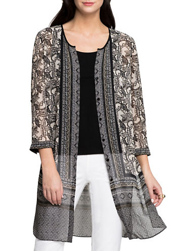 Nic+Zoe Mirrored Monkeys Tunic-MULTI-X-Small