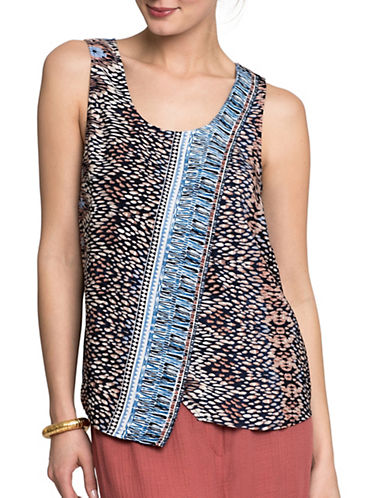 Nic+Zoe Casa Blanca Tank Top-MULTI-Large