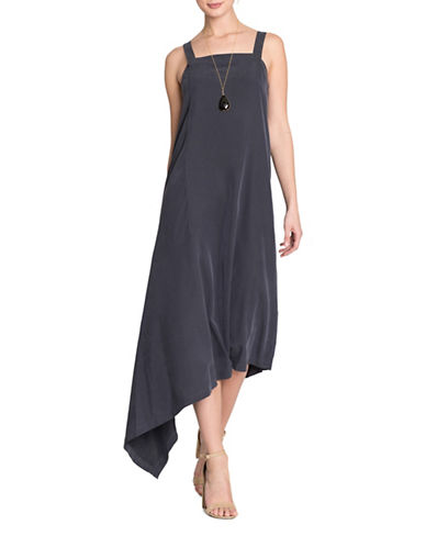 Nic+Zoe City Slicker Dress-GREY-Medium